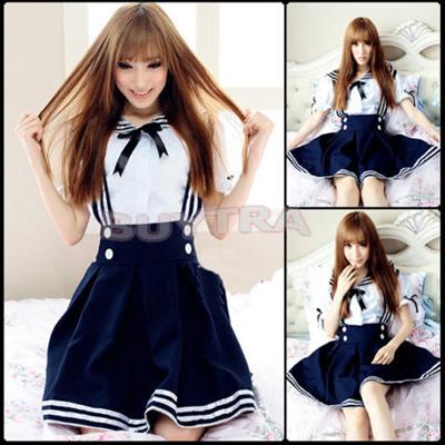 5bb00ae2eea39 Japanese Girl Japan School Uniform Dress Sailor Cosplay Costume Anime Style