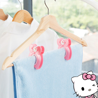 f24f91f57 Qoo10 - Japanese Hello Kitty fixed clip clothespin clothes hangers wind Rod  cl... : Bedding & Rugs &.