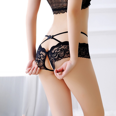 Japanese Hot Sexy Panty Girl Temptation Transparent Lace Low Waist Opening With Ultra Thin Breathabl