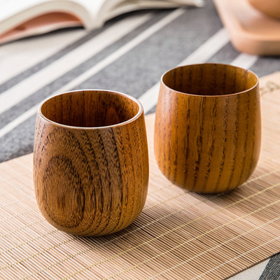 Japanese wooden tea cups tea insulated wooden cups large capacity drinking  water wooden cups creativ