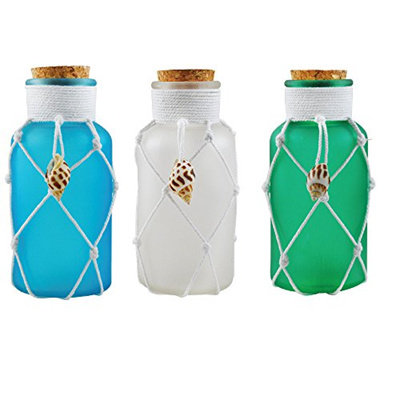 Qoo40 Jar Glass Decorative Seashell Apothecary Jars With Cork Lid Unique Glass Decorative Jars With Lids
