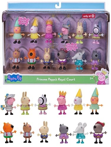 36321b91a Qoo10 - Jazwares EXCLUSIVE Peppa Pig - PRINCESS PEPPAS ROYAL COURT FIGURE  12-P... : Toys