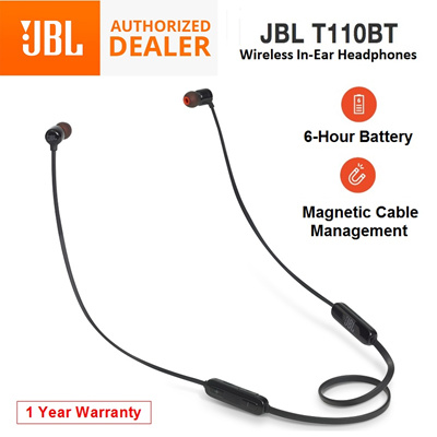 JBLJBL T110BT Wireless In-Ear Earphones Bluetooth Headphones Earpiece 12  Months Warranty Local Set