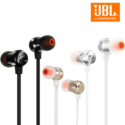 d30b78849bf JBL T280A Stereo In-Ear Headphones With Flat Cable In-Line 1-Button