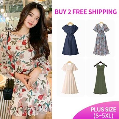 87956e87edbd2 JENNY SHOPKorean style ♥ casual dress / tube top dress / party dress /  beach dress / print dress / Plus Size