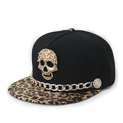 Qoo10 - Jescakoo Hip-hop Hat Metal Skull Studded Snapback with Chain  (6colors 464f3e32dad