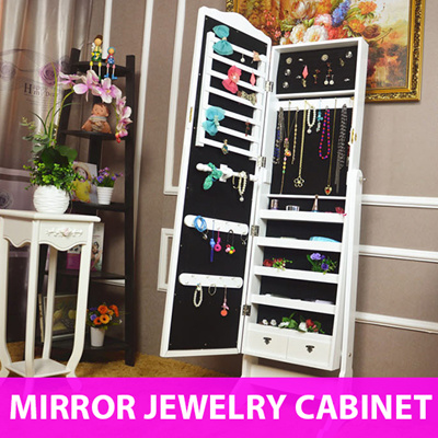 Jewelry Mirror Cabinet   Full Length Mirror Cabinet /Accessory Organizer  /Jewel Box /Storage