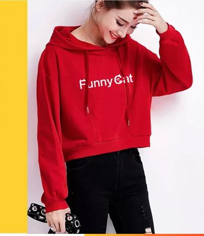 Qoo10 - Jfashion Jaket sweater Hoodie Cropped Tangan Panjang - Della ... a95a2632c0