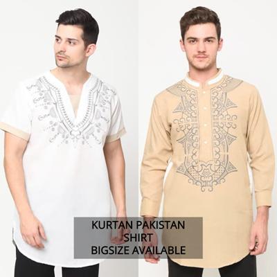 Pakistani Kurta Shirt Printing Short Sleeve // Long Sleeve //