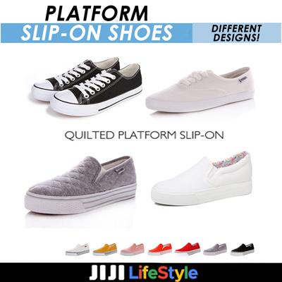 efa122e46b3c 4.90 popular quilting platform slip   canvas shoes   shoes   slip-on