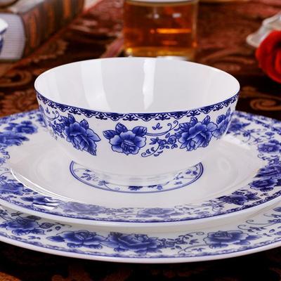 Qoo10 - Jingdezhen blue and white porcelain Dinnerware Set porcelain ...