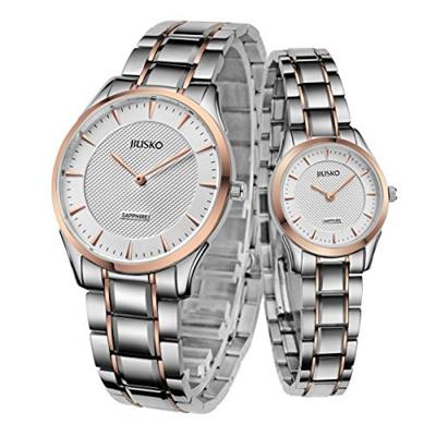 7147141bcb8d JIUSKO Jiusko Luxury Couple His and Hers Wrist Watch Gift Set - Sapphire -  Tri Color