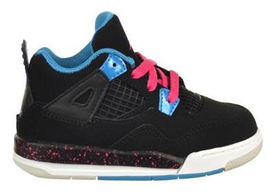 on sale f44bd d481a JordanJordan Retro IV (TD) Toddler Baby Shoes Black/Fireberry/Dynamic Blue