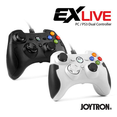 [Joy Tron] EX LIVE Wired Controller (PS3 / PC compatible) / x Input /  Direct Input / xbox controller
