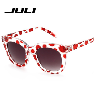 bf387cb3fc2 Qoo10 - JULI EYEWEAR Fashion Woman Round Sunglasses Polka Dots Frame Sun  Glass...   Fashion Accessor.