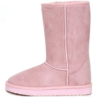 New Fashionable Snow Warm Boots Shearling Womens Basic Winter Shoes Pink