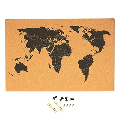 Qoo10 juvale cork board map of the world wall mount bulletin board juvale cork board map of the world wall mount bulletin board with detailed world map gumiabroncs Image collections