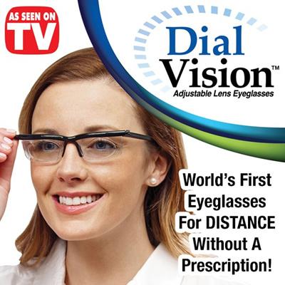 Kacamata Jarak Dekat dan Jauh - Dial Vision Adjustable Lens Eyeglasses  (Distance or Reading) c67fa6ef51