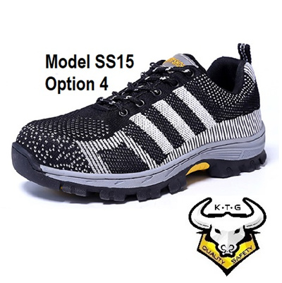 Kaithegent Safety Shoes Steel Toe Cap Work Boots Sole Sports Light Breathable