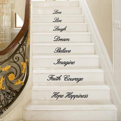 qoo10 - kakuder stair stickers wall decor believe faith ten