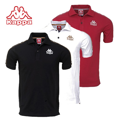 bed0aa2fc35e Kappa Mens Comfort Fit Authentic Short Sleeve Polo