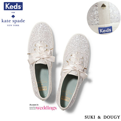 a2c11e2cf6 Qoo10 -  KEDS X Katespade New York  100% AUTHENTIC CREAM GLITTER WEDDING  Sneak...   Shoes