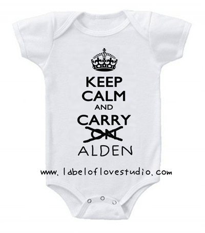 ae5ed7ccc Qoo10 - Keep Calm and Carry Me Personalized Romper/ Onesie : Kids Fashion