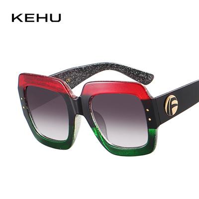 4f22436f2d KEHU New Fashion Trend Square Women Sunglasses Colour Frame Unique Design Sunglasses  Women Oversized