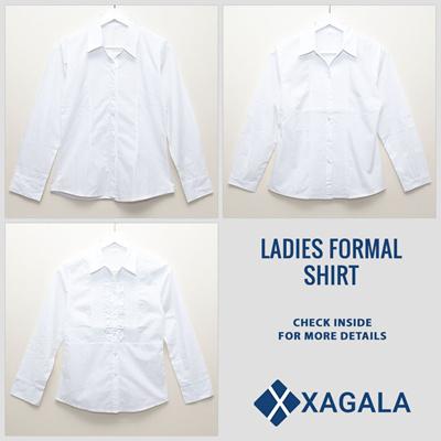 Kemeja Formal Wanita Putih Polos / Kemeja Kerja Lengan Panjang