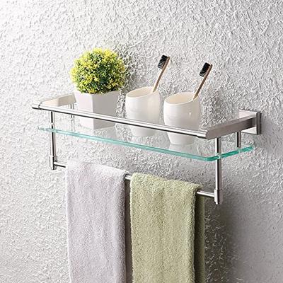 Qoo10 Kes Gl Shelf Bathroom Towel Rack Single Bar