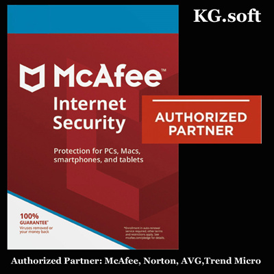 KG soft💖Authorised Partner💖 McAfee Internet Security 2019 - 1/3/5/10  devices - activation code (Antivirus