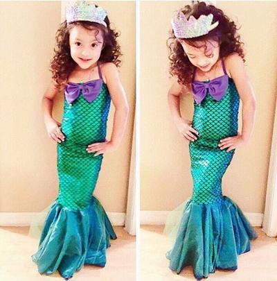 Kid Ariel Child Little Mermaid Set Girl Princess Dress Party Halloween Costume G  sc 1 st  Qoo10 & Qoo10 - Kid Ariel Child Little Mermaid Set Girl Princess Dress Party ...