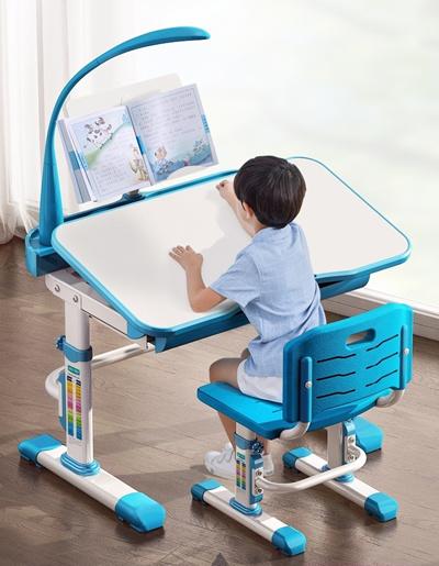 KidnomicsKids Adjustable Study Table/Desk [Fully Adjustable Height] + FREE  Ergonomic Chair + LED Lamp