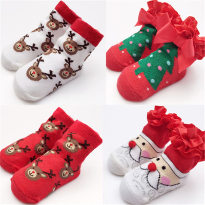 9f7ce3b9dc1af Kids Boy Girl Christmas Baby Socks Hot Sale Newborn Baby Santa Claus Socks  2017 New Arrival Fashion