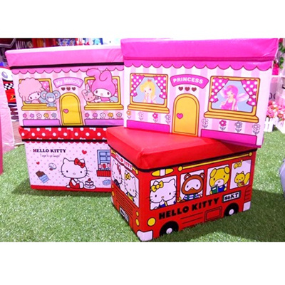 Kids Haven - Foldable Home Storage Stools Cute Children Storage Stools Paper Bag Organiser Storage Box  sc 1 st  Qoo10 & Qoo10 - Home storage stools : Furniture u0026 Deco