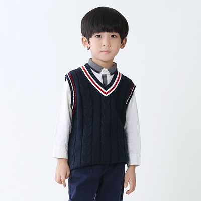 2982a6069 Qoo10 - Kids Knitted Sweaters Vest Boy Clothes Cotton Sleeveless ...
