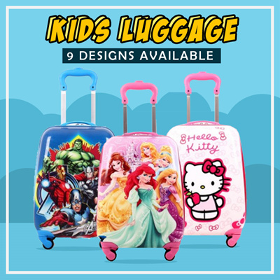 Qoo10 - Kids Luggage Suitcase  18 inch  Kids Travel Bag Trolley Gift   Frozen H...   Bag   Wallet 630a698af0738
