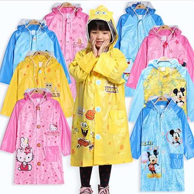 Kids Rain Coat/ Childrens Raincoat with Schoolbag slot Rainwear Cartoon  Animal Poncho Rainsuit Outdo
