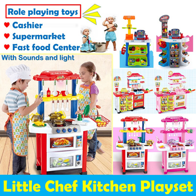 Qoo10 kids role playing kitchen set with sounds and for Kitchen set toy kingdom