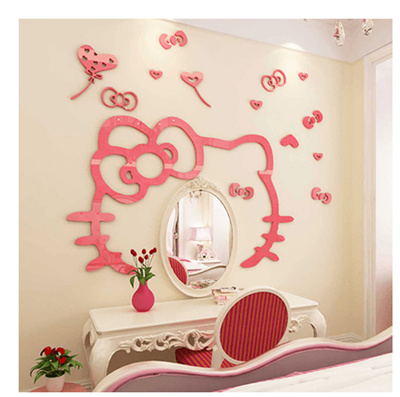 Kids room decor bedside wall stickers 3d girl room vanity sticker wall stickers