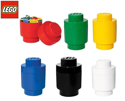 [LEGO]Lego Storage Brick 1 Round/ Lego Round Storage / Red/Blue