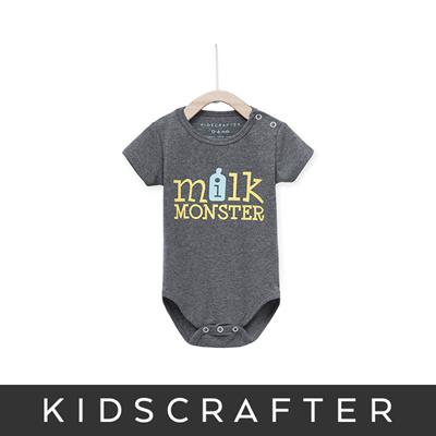 b9f7061f7 Milk Monster Baby Romper - Gray/Onesie/Newborn/Newborn Clothes/Baby Clothes