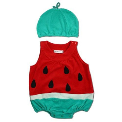 fac10000821e Qoo10 - Kigurumi Kigurumi  hat with watermelon romper costume  70cm baby  costu...   Baby   Maternity