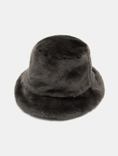 3221eaba7da Qoo10 - KIJIMA TAKAYUKI Fake Fur Bucket Hat - Gray (Men)   Fashion  Accessories