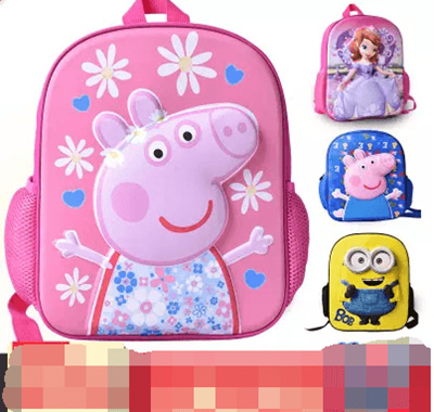 Qoo10 - Kindergarten school bag Childrens school bag cute cartoon pig bag  Soph...   Kids Fashion 9c50b9593db6d
