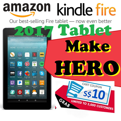 KindleAmazon 7th generation All-New Fire 7 Tablet 7 inch 8GB Black/bluered  WIFI version-with Special Offer
