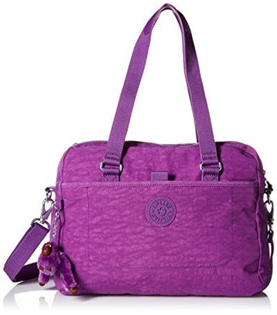9d4502a3c5ee AUTHENTIC Kipling womens bag Devyn satchel shoulder sling crossbody bag  violet purple