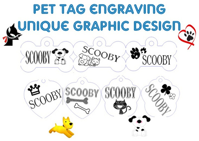 [Kirei Love]Customizing Pet / Dog / Children / Medical Name Tag With  Graphic Engraving / FREE Collar