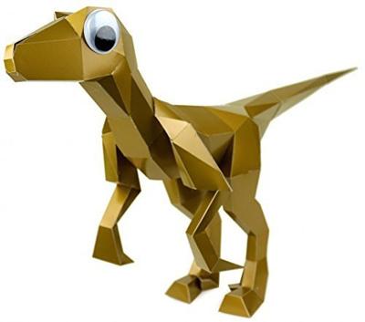 Qoo10 Kit Rex Papercraft Dinosaur Puzzle Velociraptor In Gold By
