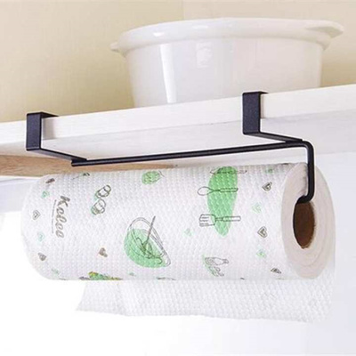 Kitchen Tissue Holder Hanging Bathroom Toilet Roll Paper Holder Rack  Kitchen Cabinet Door Hook Holde